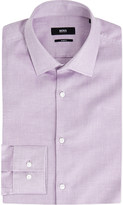 HUGO BOSS Micro-patterned slim-fit cotton shirt