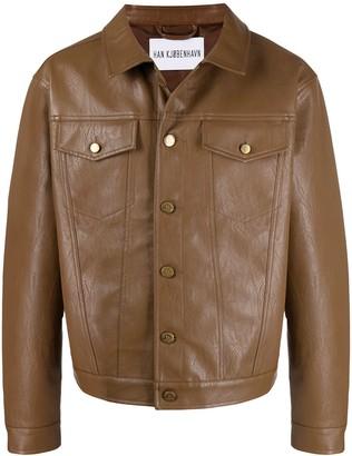 Han Kjobenhavn Vegan Leather Shirt Jacket