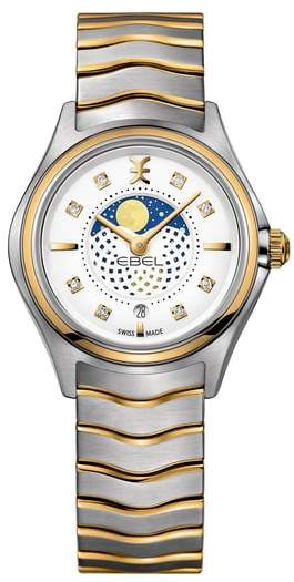 Ebel Moonphase Wave Bracelet Watch, 30mm