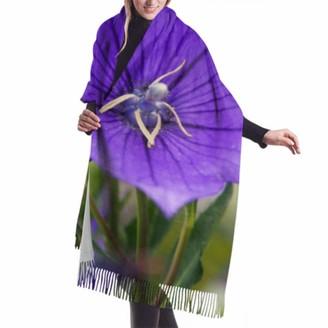 "Asekngvo 27""x77"" Women Scarf Lightweight Beautiful Bell Flower Large Cashmere Scarf Wrap Shawl Wrap Stylish Large Warm Blanket"