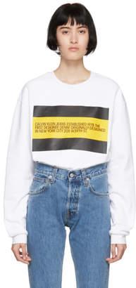 Calvin Klein Jeans Est. 1978 White Est. 1978 Patch Sweatshirt