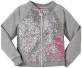 Hello Kitty Raglan Sleeve Jacket (Toddler/Kid) - Heather Gray - 2T
