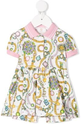 Versace Jewel Print Dress