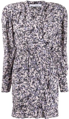IRO fitted floral mini dress