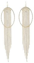 Charlotte Russe Textured Circle & Fringe Statement Earrings