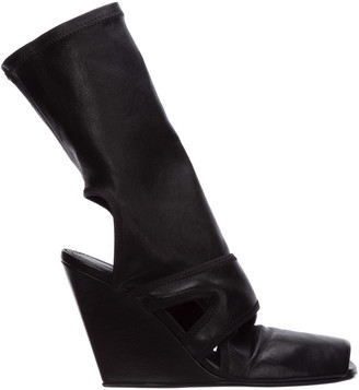 Rick Owens Open-Toe Wedge Boots