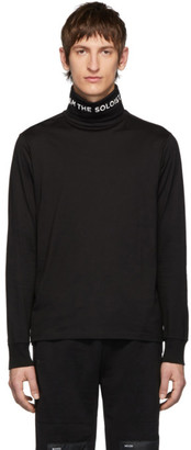 Takahiromiyashita Thesoloist. TAKAHIROMIYASHITA TheSoloist. Black Jersey Long Sleeve Turtleneck