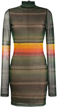 House of Holland long-sleeve striped dress