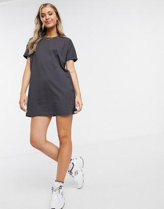 Miss Selfridge organic t-shirt dress in charcoal