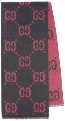 Gucci Wool and silk jacquard scarf