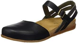 El Naturalista S.A Nf41 Soft Grain Zumaia, Women's Closed toe sandals, Black (Black Mixed), (36 EU)