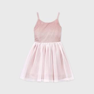 Cat & Jack Girls' Obre Sparkle Tulle Dress - Cat & JackTM Blush
