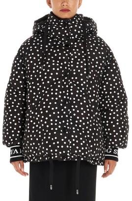 Dolce & Gabbana Hooded Polka Dot Down Jacket