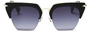 Rag & Bone Women's 1007 Gradient Rimless Geometric Sunglasses, 51mm