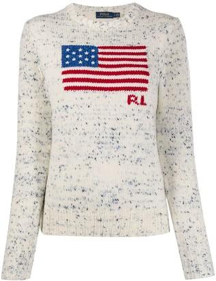 Polo Ralph Lauren Flag-Intarsia Sweater