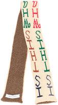 Eckhaus Latta intarsia letter scarf