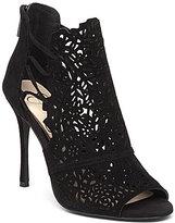 Jessica Simpson Keelin Laser Cut Lace Sides Peep Toe Pumps