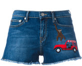 Mira Mikati embroidered patch denim shorts - women - Cotton - 40