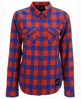 Levi's Women's Buffalo Bills Plaid Button Up Woven Shirt