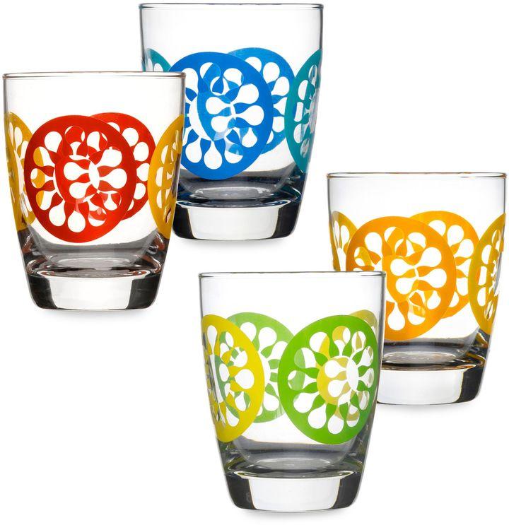 Sagaform Set of 4 Juicy Drink Glasses in Orange