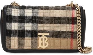 Burberry Sm Lola Check Cashmere Shoulder Bag