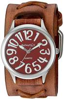 Nemesis Women's 'Always Summer Series' Quartz Stainless Steel and Leather Watch, Color:Brown (Model: BSFX108R)
