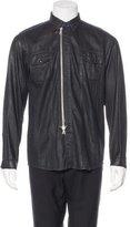 Dries Van Noten Wax-Coated Shirt Jacket