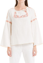 Max Studio Long Sleeve Embroidered Top
