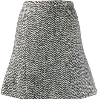 RED Valentino herringbone tweed skirt
