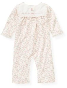Janie and Jack Embroidered Floral One-Piece