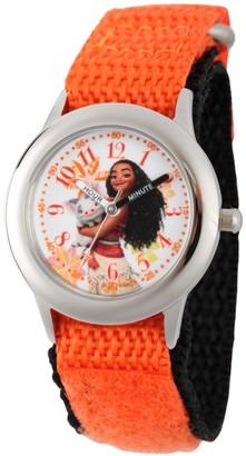 Disney Girl' Diney Moana and Pua tainle teel Time Teacher Watch - Orange