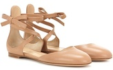 Gianvito Rossi Exclusive To Mytheresa.com - Pina Leather Ballerinas
