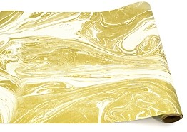 Hester and Cook Gold Marble Table Runner