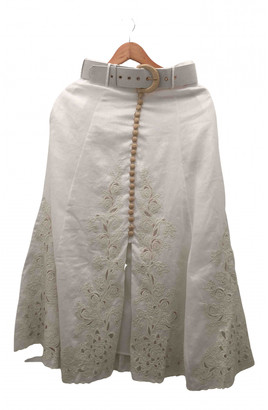 Zimmermann White Linen Skirts