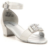 MICHAEL Michael Kors Girls' Ella Kyla Metallic Dress Sandal