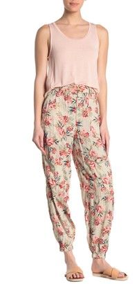 Angie Floral High Waisted Cargo Pants