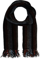 Barneys New York MEN'S STRIPED CHENILLE SCARF