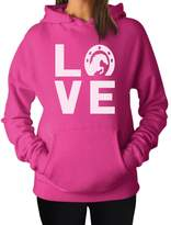 TeeStars - Animal Lover Rearing Horse - Love Horses - Horseshoe Women Hoodie
