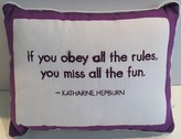 The Well Appointed House 'If You Obey All the Rules, You'll Miss All the Fun' Decorative Pillow - IN STOCK IN OUR GREENWICH STORE FOR QUICK SHIPPING