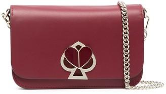 Kate Spade Logo-Plaque Leather Crossbody Bag