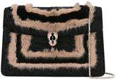 Bulgari fur-trimmed 'Serpenti Forever' bag
