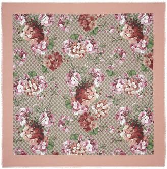 Gucci Modal silk Blooms print shawl