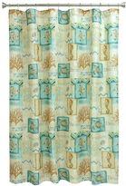 Bacova Chevron Beach Fabric Shower Curtain