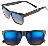 Shwood Men's Monroe 55Mm Polarized Sunglasses - Black/ Elm/ Blue Flash