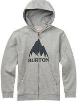 Burton Classic Mountain Full-Zip Hoodie - Boys' Gray Heather M