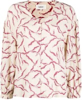 Thumbnail for your product : BA&SH Clea print V-neck top