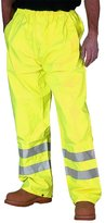 Fashion Box Mens Hi Viz Waterproof Rain Over Trousers High Vis Visibility Pants