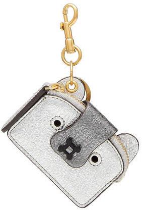 Anya Hindmarch Husky Metallic Leather Keychain