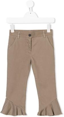 Douuod Kids Ruffle Hem Trousers