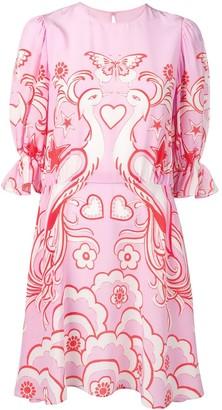 Valentino Phoenix print dress